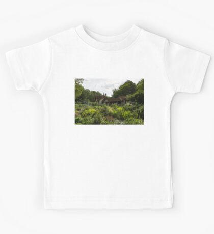 English Cottage Garden - a Blissful Space with a Riot of Flowers Kids Tee