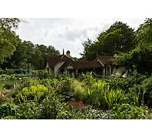 English Cottage Garden - a Blissful Space with a Riot of Flowers Photographic Print