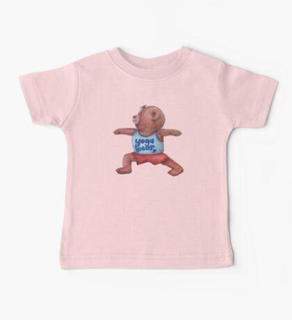 Warrior Yoga Bear  Baby Tee