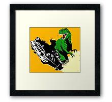 T-Rex Driving Framed Print
