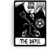 The Devil  - Tarot Cards - Major Arcana Canvas Print