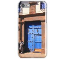 Blue Door Street Scene, Cusco, Peru iPhone Case/Skin