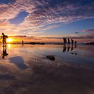 Snapper Rocks Sunset by D Byrne