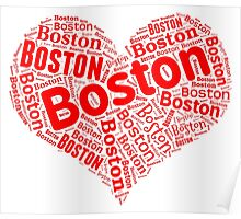 Boston - Red Heart Poster
