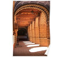 Sunlit arches in the Convent of La Merced, Cusco, Peru Poster