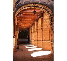 Sunlit arches in the Convent of La Merced, Cusco, Peru Photographic Print