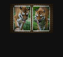 Two hot tigers Womens Fitted T-Shirt