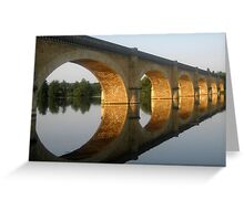 """Reflected  tranquility""  -  Mauzac, France Greeting Card"