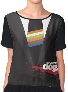 -TARANTINO- Reservoir Dogs Suit Style Chiffon Top