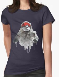 astronaut pokemon ball Womens Fitted T-Shirt