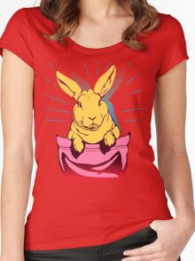 bunny rabbit in your pocket pet shirt Women's Fitted Scoop T-Shirt