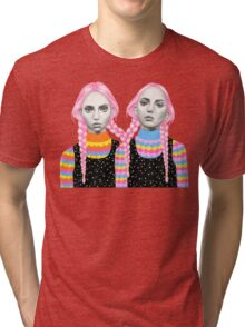 Plaited Twins Tri-blend T-Shirt