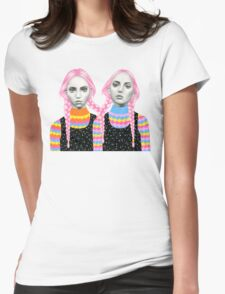 Plaited Twins Womens Fitted T-Shirt