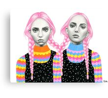 Plaited Twins Canvas Print