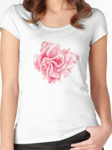 talisman . pink flower for love Women's Fitted Scoop T-Shirt