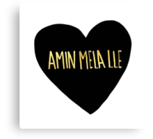 "Amin Mela Lle: ""I Love You"" in Elvish Canvas Print"