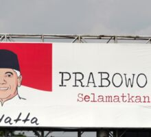 prabowo hatta rajasa billboard Sticker