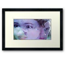 doctor meets pond Framed Print