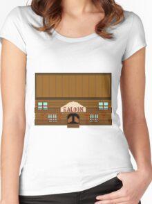 Wild West pixel Saloon Women's Fitted Scoop T-Shirt