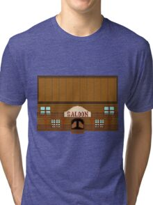 Wild West pixel Saloon Tri-blend T-Shirt