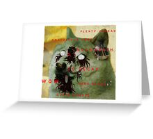 So Undead, Much Zombie, Very Blood. W O W  Greeting Card