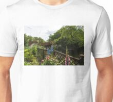 English Cottage Garden - a Blissful Space with a Riot of Flowers and a Bonus Squirrel Unisex T-Shirt