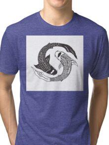 Koi Yin Yang Tri-blend T-Shirt