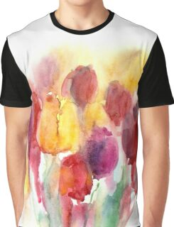 Spring watercolor tulips Graphic T-Shirt