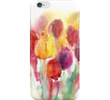 Spring watercolor tulips iPhone Case/Skin