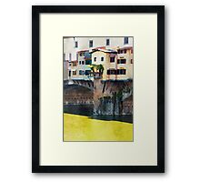 Watercolor painting of Florence, Italy Framed Print
