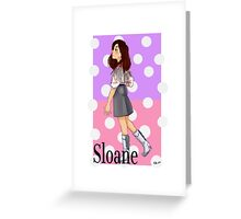 Sloane Peterson (Ferris Bueller's Day Off) Greeting Card