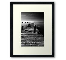 A Long Walk Into the Future Framed Print