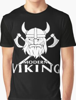 Modern Viking Logo Graphic T-Shirt
