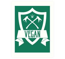 VEGAN COAT OF ARMS Art Print