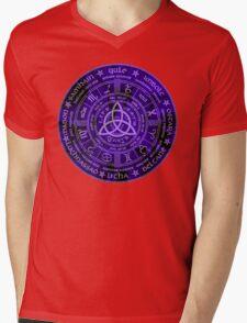 Celtic Pagan Year Wheel Calendar Mens V-Neck T-Shirt