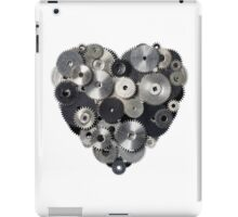 Heart shape made of metal pinions and sprockets iPad Case/Skin