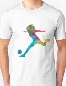 Woman soccer player 01 in watercolor Unisex T-Shirt