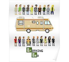 Breaking bad pixel poster Poster