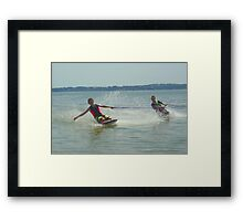 Making a splash Framed Print