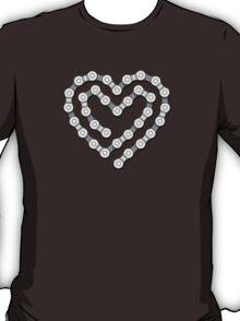 Bicycle Chain Heart T-Shirt