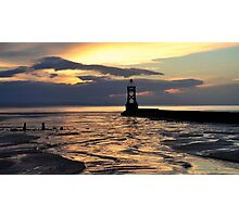 out to sea at sunset Photographic Print