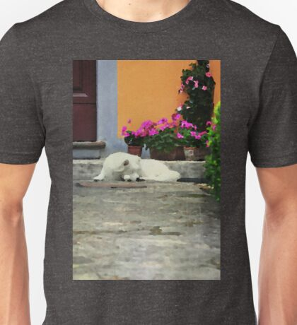Watercolor with a dog Unisex T-Shirt