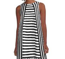 Black and White Srtipes A-Line Dress
