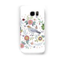 Beautiful bird in flowers Samsung Galaxy Case/Skin