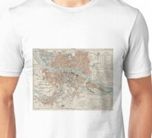 Vintage Map of Lyon France (1888) Unisex T-Shirt