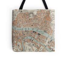 Vintage Map of Lyon France (1888) Tote Bag