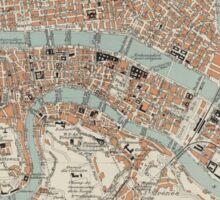 Vintage Map of Lyon France (1888) Sticker