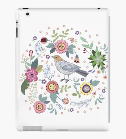 Beautiful bird in flowers iPad Case/Skin