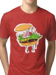 Cowburger Tri-blend T-Shirt