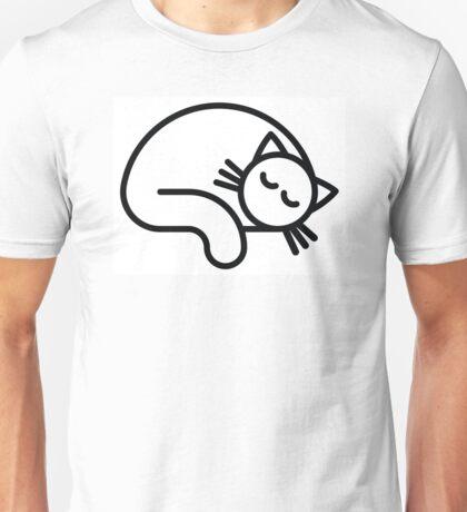 Sleeping white cat Unisex T-Shirt